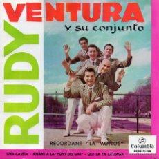 Discos de vinilo: RUDY VENTURA Y SU CONJUNTO, EP, RECORDANT LA MOÑOS + 3 , AÑO 1960. Lote 45352225