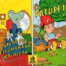 Discos de vinilo: CONTES CATALANS, EP, LA RATETA QUE ESCOMBRAVA L´ESCALETA + 1 , AÑO 1962. Lote 45357229