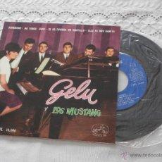 Discos de vinilo: GELU Y LOS MUSTANG 7´EP DOMINIQUE + 3 TEMAS (1964) COMO NUEVO *DIFICIL DE VER EN ESTE ESTADO*. Lote 45359303