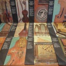 Discos de vinilo: HISTORIA DE LA MÚSICA. EDITORIAL CODEX.12 SINGLES ( 33 1/3 RPM ) ****/**** LEER. Lote 45377454
