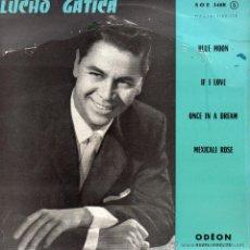 Discos de vinilo: LUCHO GATICA, EP, BLUE MOON + 3, AÑO 19?? MADE IN FRECH (FRANCE). Lote 45390091