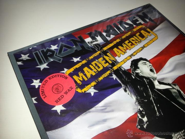 IRON MAIDEN - MAIDEN AMERICA - LIMITED LP ROJO - PRECINTADO - VINILOVINTAGE (Música - Discos - LP Vinilo - Heavy - Metal)