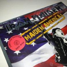 Discos de vinilo: IRON MAIDEN - MAIDEN AMERICA - LIMITED LP ROJO - PRECINTADO - VINILOVINTAGE. Lote 45394262