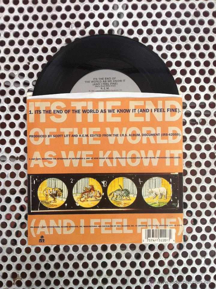 Discos de vinilo: R.E.M. REM ITS THE END OF THE WORLD AS WE KNOW IT (AND I FEEL FINE) - USA - Foto 2 - 45395784
