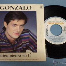 Disques de vinyle: GONZALO / FESTIVAL OTI '83 (QUIEN PIENSA EN TI) ***SINGLE 45 R.P.M.***. Lote 45402798