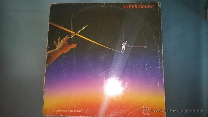 L.P. SUPERTRAMP. FAMOUS LAST WORDS (Música - Discos - Singles Vinilo - Pop - Rock - Extranjero de los 70)