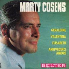 Disques de vinyle: MARTY COSENS, EP, GERALDINE + 3, AÑO 1965. Lote 45419660