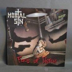 Discos de vinilo: LP. DISCO DE VINILO. MORTAL SIN - FACE OF DESAIR. TRASH METAL. 1989. Lote 45442172