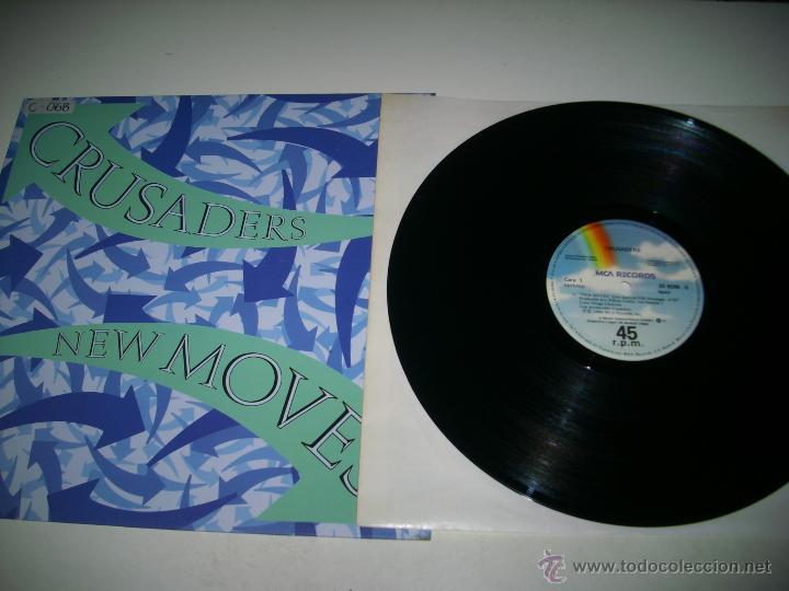 Discos de vinilo: CRUSADERS New moves (1984 MCA RECORDS ESPAÑA) JOE SAMPLE PROMOCIONAL MAXI SINGLE - Foto 3 - 45446519