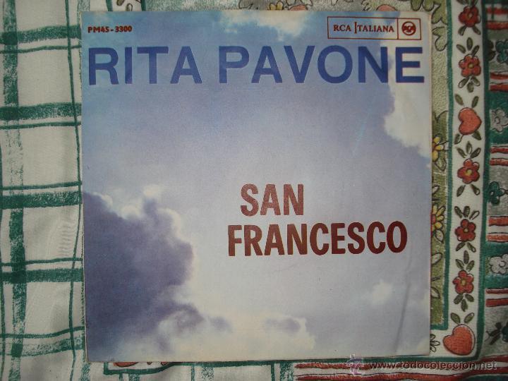 Discos de vinilo: RITA PAVONE , L´AMORE MIO, SAN FRANCISCO . SINGLE EDICION ITALIANA - Foto 2 - 45447409