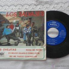 Discos de vinilo: LOS SALVAJES 7´EP LAS OVEJITAS + 3 TEMAS (1967) BUENA CONDICION. Lote 45450665
