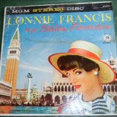 Discos de vinilo: CONNIE FRANCIS SINGS ITALIAN FAVORITES - MGM RECORDS SE3791. Lote 45451031