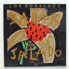 Discos de vinilo: LOS RONALDOS - 'SABOR SALADO' (LP VINILO. CARPETA ABIERTA. LIBRETO. ORIGINAL 1990). Lote 45462962