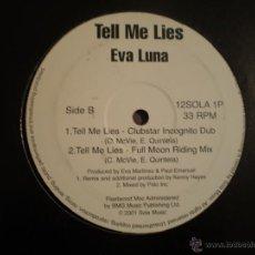 Discos de vinilo: MAXI LP. EVA LUNA. TELL ME LIES. Lote 206962788