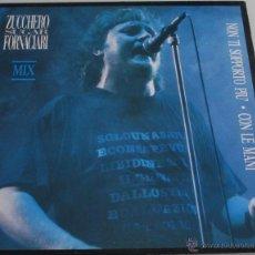 Discos de vinilo: ZUCCHERO SUGAR FORNACIARI - NON TI SOPPORTO PIU + CON LE MANI - MAXI SINGLE - POLYDOR 1988 SPAIN. Lote 150058870