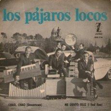 Discos de vinilo: LOS PÁJAROS LOCOS - SINGLE VINILO 7 - EDITADO EN ESPAÑA - I FEEL FINE (BEATLES COVER) + 1 - IBEROFÓN. Lote 45469578