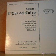Discos de vinilo: MOZART - L'OCA DEL CAIRO K. 422. MARCELLO CORTIS / FERRUCCIO SCAGLIA - VOCE V-28 - EDICION UK. Lote 45473744