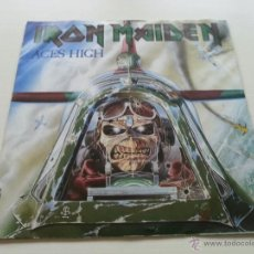 Discos de vinilo: IRON MAIDEN - ACES HIGH 7 PULG ORIGINAL UK SINGLE 1984 - VINILOVINTAGE. Lote 40800692