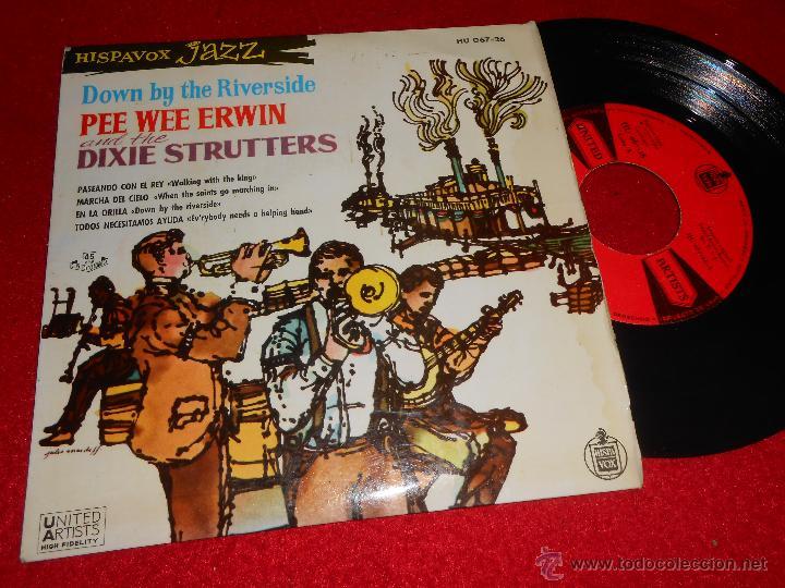 PEE WEE ERWIN & DIXIE STRUTTERS DOWN BY THE RIVERSIDE.WALKING WITH THE KING +2 EP 1960 ESPAÑA SPAIN (Música - Discos de Vinilo - EPs - Jazz, Jazz-Rock, Blues y R&B)