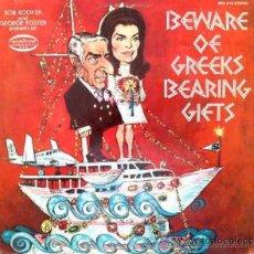 Discos de vinilo: BOB BOOKER & GEORGE FOSTER PRESENT BEWARE OF GREEK BEARING GIFTS. JACKELINE KENNEDY Y ONASSIS - LP. Lote 27389066