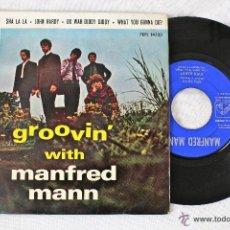 Discos de vinilo: MANFRED MANN / GROOVIN WITH../ SHA LA LA - JOHNHARDY - RARO EP 4 TEMAS / ESPAÑOL EMI 1964, EXC. Lote 45487757