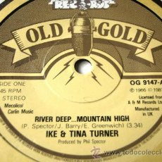 Discos de vinilo: IKE & TINA TURNER - RIVER DEEP...MOUNTAIN HIGH 7 OLD GOLD VINYL / RARA EDIC ESPAÑOLA !!. Lote 45488734