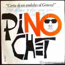 Discos de vinilo: C. BONALD Y EL LEBRIJANO, CARTA DE UN ANDALUZ AL GENERAL PINOCHET - LP AUTOGRAFIADO POR EL LEBRIJANO. Lote 27403882