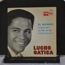Discos de vinilo: LUCHO GATICA. EL MUNDO + 3. EP. CAPITOL 1965. LITERACOMIC.. Lote 45500921