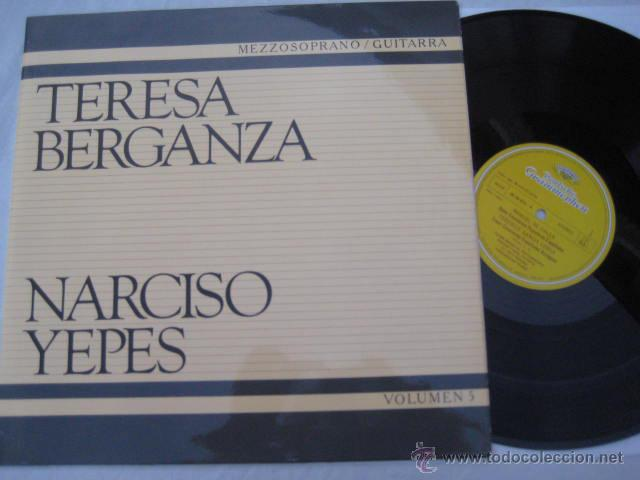 TERESA BERGANZA, MEZZOSOPRANO. NARCISO YEPES, GUITARRA : MANUEL DE FALLA, FEDERICO GARCÍA LORCA (Música - Discos - LP Vinilo - Clásica, Ópera, Zarzuela y Marchas)