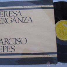 Discos de vinilo: TERESA BERGANZA, MEZZOSOPRANO. NARCISO YEPES, GUITARRA : MANUEL DE FALLA, FEDERICO GARCÍA LORCA. Lote 45508210