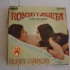 Discos de vinilo: HENRY MANCINI ROMEO Y JULIETA. Lote 45516872