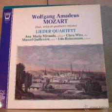 Discos de vinilo: WOLFGANG AMADEUS MOZART - DUO, TRIOS ET QUATUORS VOCAUX. LIEDER QUARTETT - ARION ARN 38490 - 1979. Lote 45522958