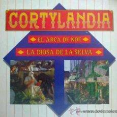 Discos de vinilo: CORTYLANDIA (EL CORTE INGLÉS, NAVIDAD). EL ARCA DE NOÉ,LA DIOSA DE LA SELVA. AUTOR: ÁLVARO NIETO. LP. Lote 32149123