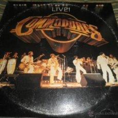 Discos de vinilo: COMMODORES - LIVE DOBLE LP - ORIGINAL U.S.A. - MOTOWN RECORDS 1977 - GATEFOLD COVER -. Lote 45527090