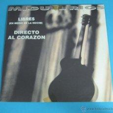 Discos de vinilo: MIGUEL RIOS. DISCO PROMOCIONAL. LIBRES - DIRECTO AL CORAZÓN. POLYDOR. Lote 45535328
