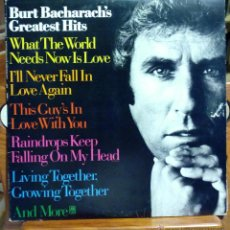 Discos de vinilo: BURT BACHARACH, GREATEST HITS (ARIOLA 1975) LP ESPAÑA. Lote 45535962