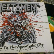 Discos de vinilo: TESTAMENT RETURN TO THE APOCALYPTIC CITY MLP MAXI DISCO DE VINILO TRASH METAL HEAVY . Lote 45536161