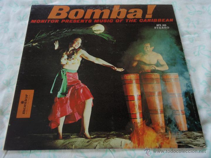 BOMBA! ' MUSIC OF THE CARIBBEAN ' USA LP33 MONITOR (Música - Discos - LP Vinilo - Étnicas y Músicas del Mundo)