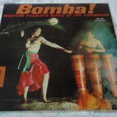 Discos de vinilo: BOMBA! ' MUSIC OF THE CARIBBEAN ' USA LP33 MONITOR. Lote 9290347