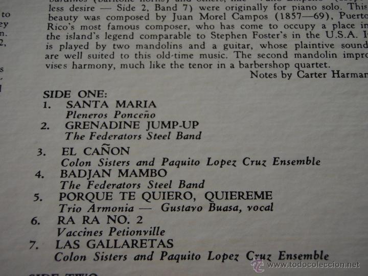 Discos de vinilo: BOMBA! MUSIC OF THE CARIBBEAN USA LP33 MONITOR - Foto 3 - 9290347