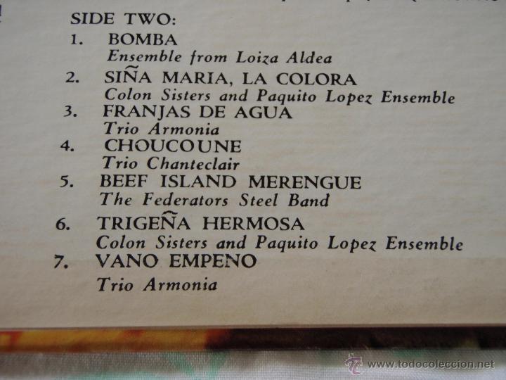 Discos de vinilo: BOMBA! MUSIC OF THE CARIBBEAN USA LP33 MONITOR - Foto 4 - 9290347