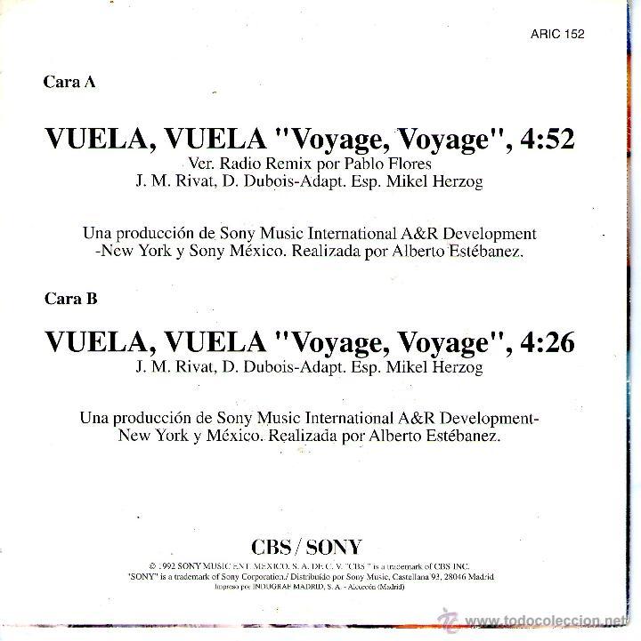 Discos de vinilo: MAGNETO – VUELA, VUELA (REMIX) - SINGLE PROMO SPAIN 1992 - Foto 2 - 149659313
