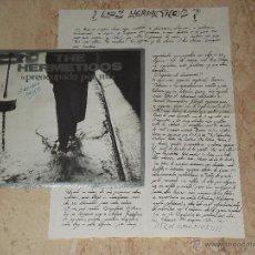 Discos de vinilo: THE HERMETICOS - PREOCUPADO POR MI- 1987-PROMOCIONAL CON INSERT. Lote 45559251