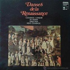 Discos de vinilo: CLEMENCIC CONSORT DE VIENNE / RENE CLEMENCIC - DANSES DE LA RENAISSANCE (LP) -MÚSICA ANTIGUA-. Lote 45562910