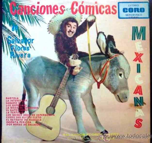 SALVADOR FLORES RIVERA - CANCIONES CÓMICAS MEXICANAS - EP (Música - Discos de Vinilo - EPs - Grupos y Solistas de latinoamérica)