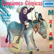 Discos de vinilo: SALVADOR FLORES RIVERA - CANCIONES CÓMICAS MEXICANAS - EP. Lote 31176249