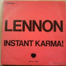 Discos de vinilo: LENNON ONO INSTANT KARMA SINGLE FRANCE. Lote 45581835