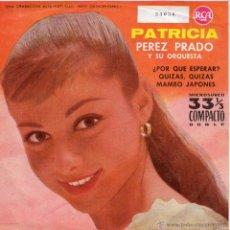 Discos de vinilo: PEREZ PRADO Y SU ORQUESTA, EP, PATRICIA + 3, 1961. Lote 45587536