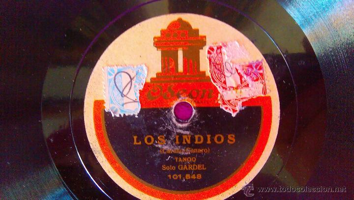 DISCOS ODEON, CARLOS GARDEL, BUENOS AIRES, LOS INDIOS (SOLO) (Música - Discos - Singles Vinilo - Grupos y Solistas de latinoamérica)
