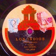 Discos de vinilo: DISCOS ODEON, CARLOS GARDEL, BUENOS AIRES, LOS INDIOS (SOLO). Lote 45592796